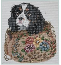 Julie Mar King Charles Spaniel in Flower Bag<br />