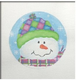 Pepperberry Design Snowman &quot;Patches&quot; ornament<br />