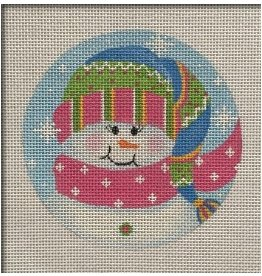Pepperberry Design Tassel Snowman ornament<br />