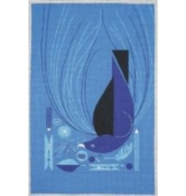 Ruth Schmuff Bower Blue Bird<br />7.75&quot; x 12&quot;