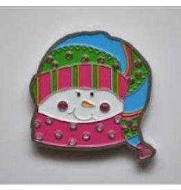 Pepperberry Design Sparkles Snowgirl Crystal & Enamel Magnet