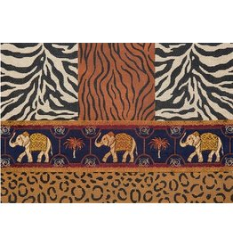 JP Needlepoint Animal Skins w/Elephant Ribbon 10x14.5""