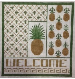 JP Needlepoint Welcome Pineapple<br />