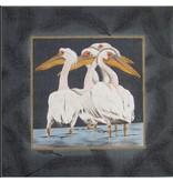 Julia Pelicans &amp; Feathers<br />17x17&quot;