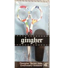 """Fleur de Paris Floral Ginger scissors 4"""""""