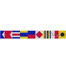 Susan Roberts Nautical Flags Alphabet Belt