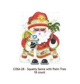 Strictly Christmas Santa holding palm tree