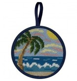 Alice Peterson Tropical Beach ornament<br />4&quot; round
