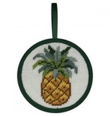 Alice Peterson Pineapple ornament<br />4&quot; round