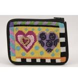 Alice Peterson Hearts coin/credit card purse