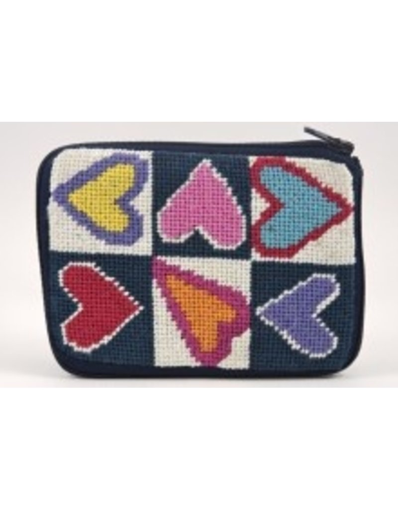 Alice Peterson Hearts of Color coin  purse/credit card case