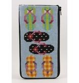 Alice Peterson Flip Flops glass case<br />Stitch &amp; Zip