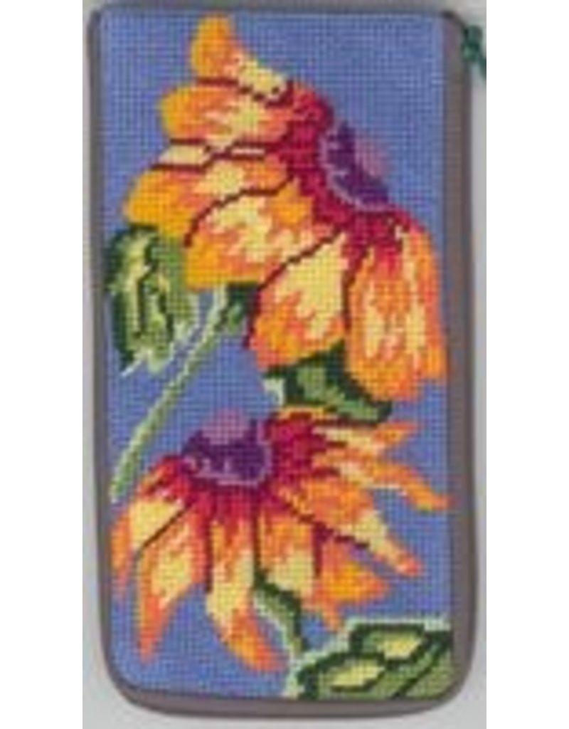 Alice Peterson Sunflowers glass case<br />Stitch &amp; Zip