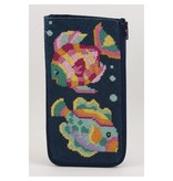 Alice Peterson Tropical Fish eye glass case