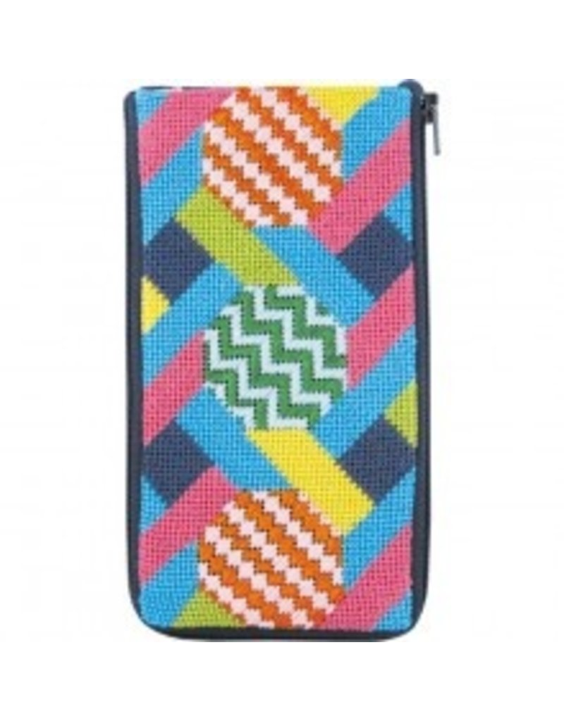 Alice Peterson Hexagons & Ribbons eyeglass case