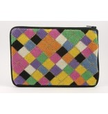 Alice Peterson Harlequin cosmetic bag