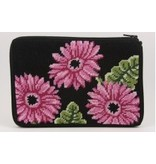 Alice Peterson Pink Gerber Daisies cosmetic bag