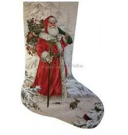 Susan Roberts Woodland Santa Stocking