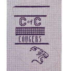 """Painted Pony College of Charleston """"Cougers"""" mini stocking ornament"""