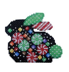 Associated Talent Peppermint Confetti Christmas Bunny ornament