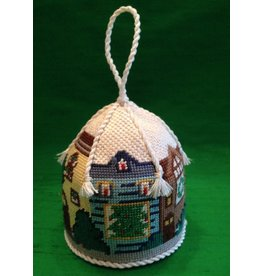 Canvas Connection Row House Carousel ornament