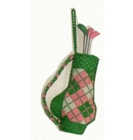 Canvas Connection Argyle Golf Bag ornament <br />