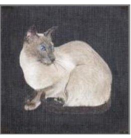 Julia Siamese Cat<br />12&quot; x 12&quot;