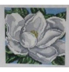 Needle Crossing White Magnolia<br />5&quot;x5&quot;