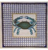 Alice VanTrese Blue Crab - Blue background<br />14&quot;x14&quot;