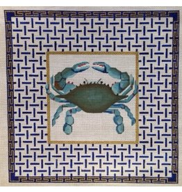 Alice VanTrese Blue Crab - Blue background<br />