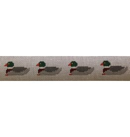 Alice VanTrese Dog Collar - Mallards & Name Plate