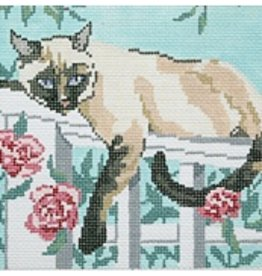 Barbara Russell Siamese Cat on Trellis<br />