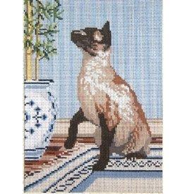 Needle Crossing Siamese Cat<br />5&quot; x 7&quot;