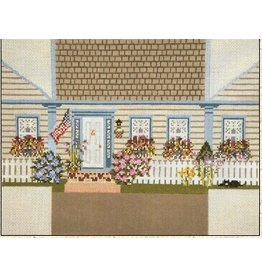 Needle Crossing House w/ Flowers<br />