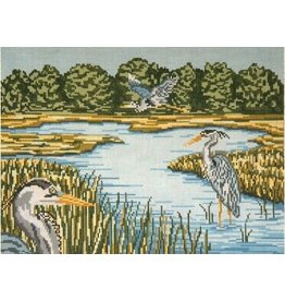 Needle Crossing Blue Heron Trilogy<br />