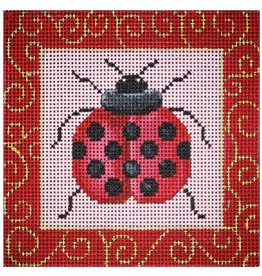 JP Needlepoint Ladybug with Swirls<br />