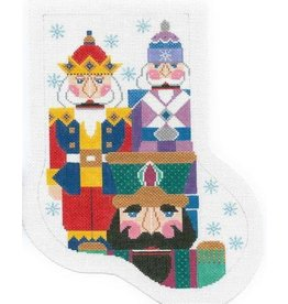 Shelly Tribbey Mini stocking - nutcrackers
