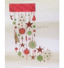 Creative Needle Christmas Stocking w/Stars & Ornaments