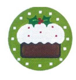 Melissa Shirley Pudding ornament<br />4&quot; diameter