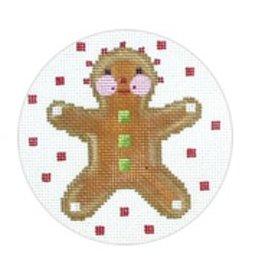 Melissa Shirley Gingerbread ornament<br />4&quot; diameter