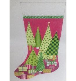 Elizabeth Turner Oh Christmas Tree -<br />Pink Background