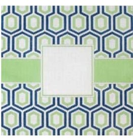 Elizabeth Turner Monogram - Blue/Green Geometric<br />