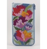 Alice Peterson Watercolor Poppies eyeglass case