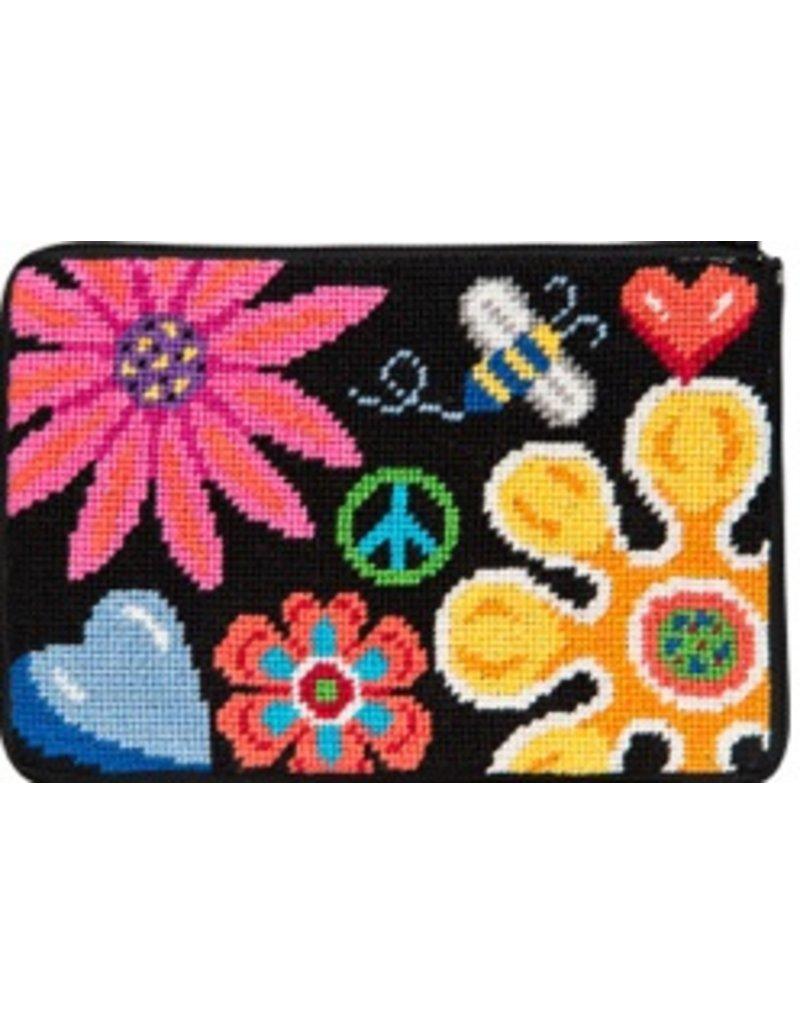 Alice Peterson Fun Floral Cosmetic Bag
