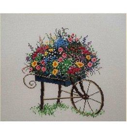 Fleur de Paris Flower Cart<br />7&quot;x7&quot;