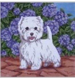 Julia West Highland Terrier<br />12&quot;x 12&quot;