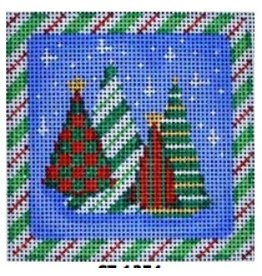 Associated Talent Funky Forest Mini Spearmint Tree Ornament/Coaster<br />