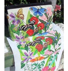 Julie Pischke Butterfly Carpetbag<br />13&quot; x 20&quot; x 6&quot;