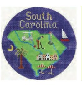 Colonial Needle South Carolina ornament<br />