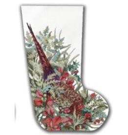 CBK Needlepoint Pheasant Stocking